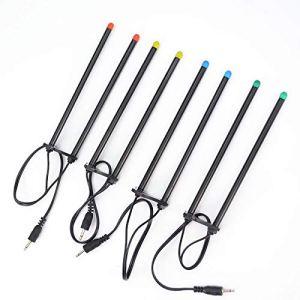 Hirisi Tackle Barres d'oreilles LED pour pêche à la Carpe avec lumière LED Rouge Bleu Vert Jaune