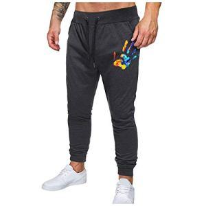 KEERADS Homme Pantalon Cargo Casual Jogging Cordon De Serrage Baggy Pants Trousers Sport Activewear Sweatpants Mode