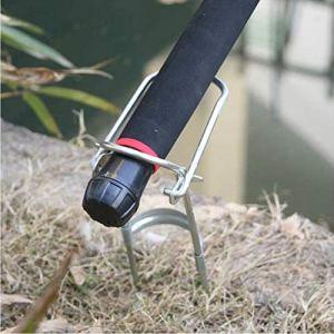 GreceMonday Simple Support Pliable Porte-Canne à pêche Fort (Argent)