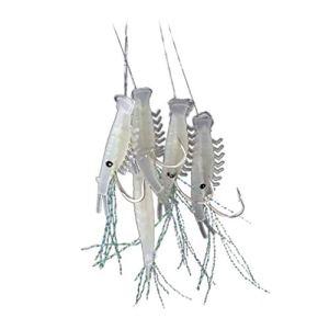 gzzebo Appâts artificiels Souples en Forme de crevettes Lumineuses simulant Les leurres de pêche noctilucide, 16#