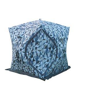 JMFHCD Tente De Pêche sur Glace Portable De Coton Pêche sur La Glace Épaississement Maison for Garder Au Chaud Et À Froid Desert Cotton Tente avec Carry Pack 70.8X70.8X78.7 Pouce,Camouflage
