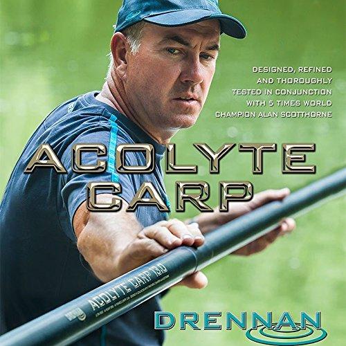 FTD DRENNAN Fil pour pêche à la carpe-Carbone-ACOLYTE 16 m-Canne à pêche pour pêche à la carpe avec 4 haut – 2 's et autres accessoires plus large, FTD 30 hameçons sans ardillon