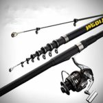 TYBXK Canne à pêche Puissance télescopique Rocher Canne à pêche de Haute qualité 2.7m-6.3m en Fibre de Carbone Spinning Canne à pêche Carp Feeder Bateaux Rod Voyage Mer (Color : Black, Size : 6.3M)