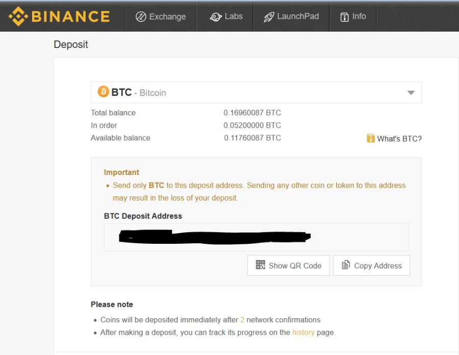 deposit-bitcoin-to-binance