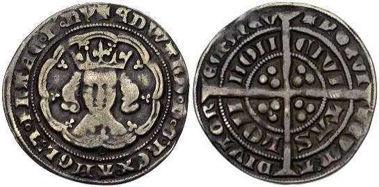 Pictures of UK Coins - The Groat (Fourpence)