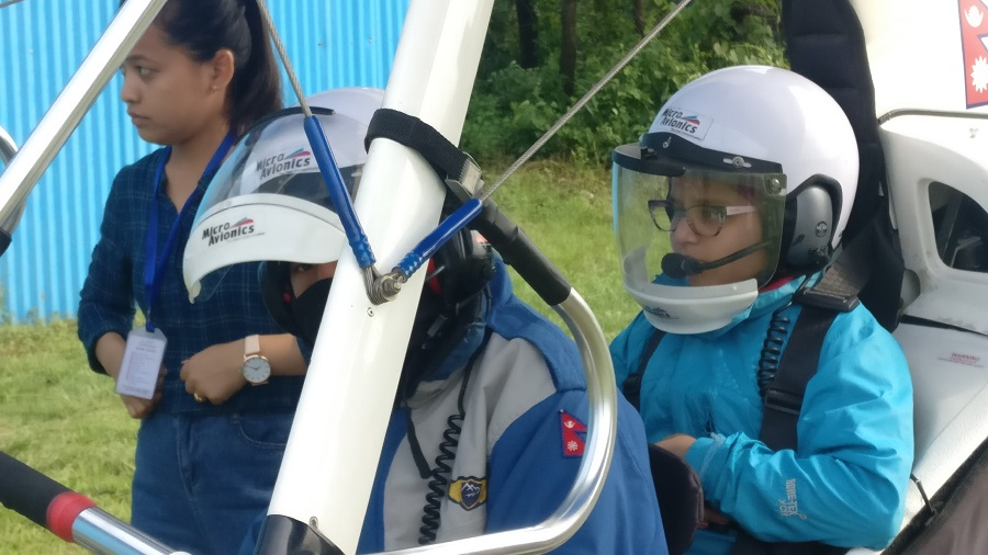 Arshiya is all set to experience Ultralight flight with pilot Kevin