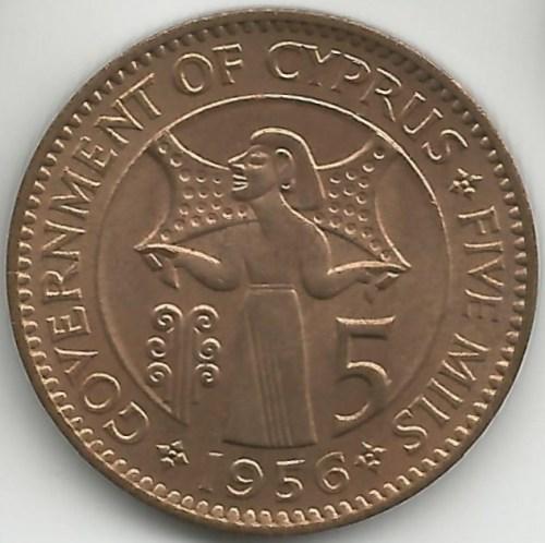 1955_cyprus_5_mills_reverse