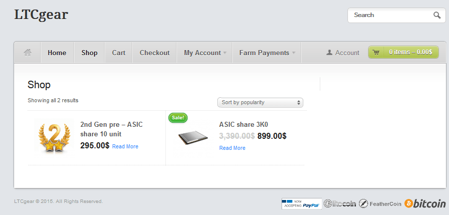 LTCGear.com   NOT PAYING (since 26.12.2014)