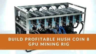 Hush Coin 8 GPU Mining Rig