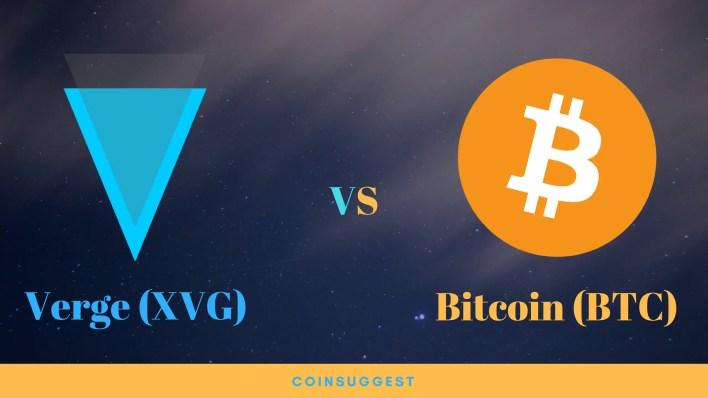 Verge VS Bitcoin