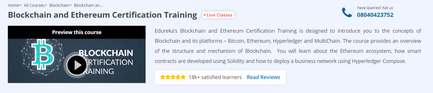 Blockchain Certification Edureka