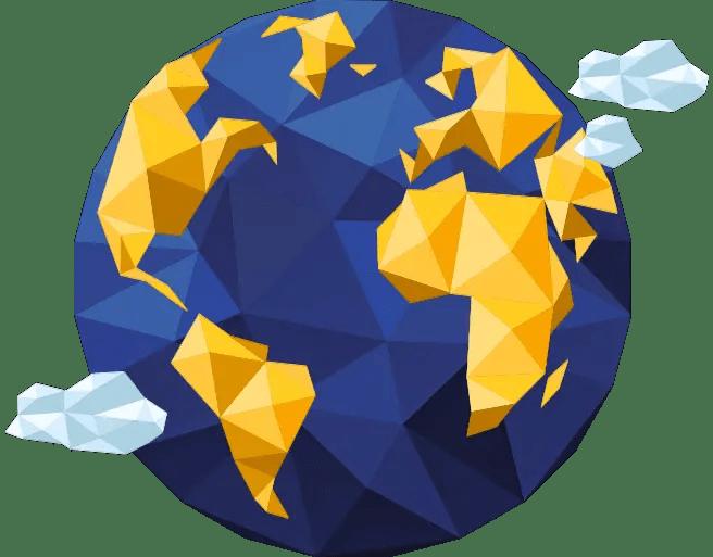 crypto home globe