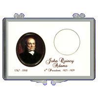 Marcus 2008 $1 J.Q. Adams Coin Holder
