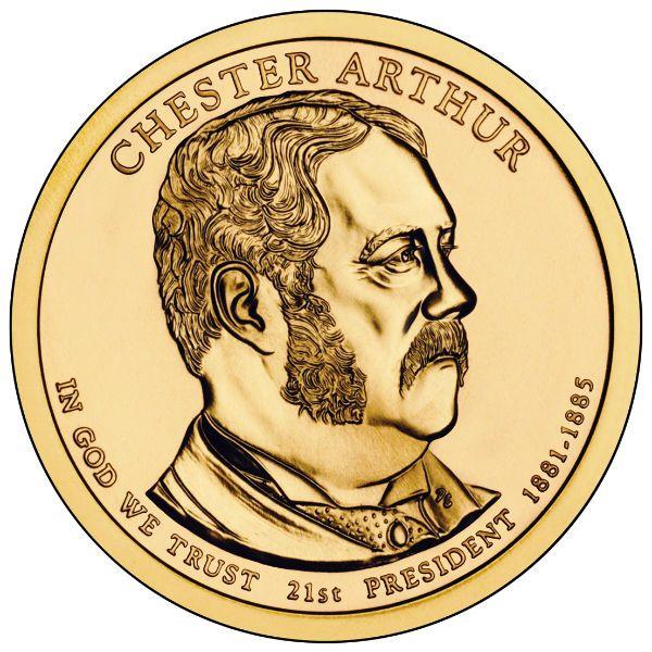 2012P $1 Arthur 25-Coin Roll