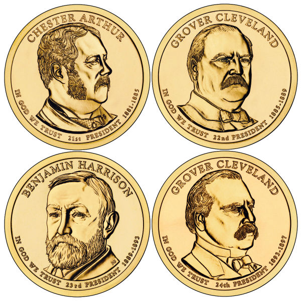 2012P $1 Presidential 4-Coin Set