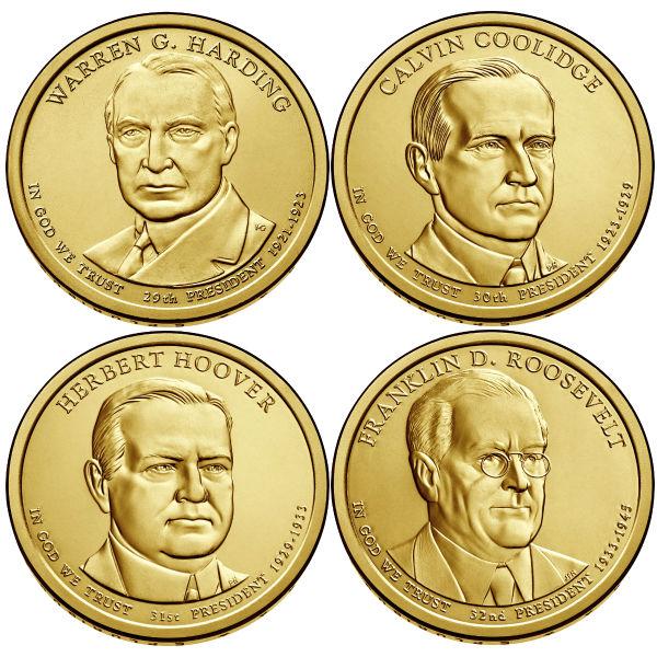 2014P $1 Presidential 4-Coin Set