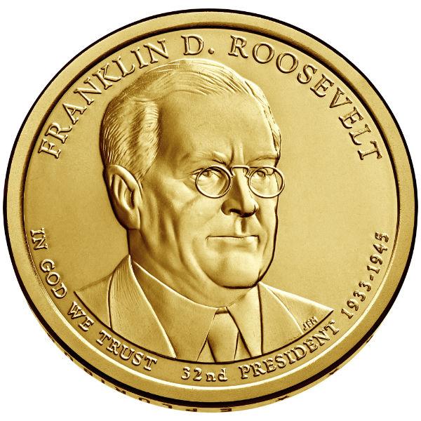 2014D $1 F.D. Roosevelt 25-Coin Roll