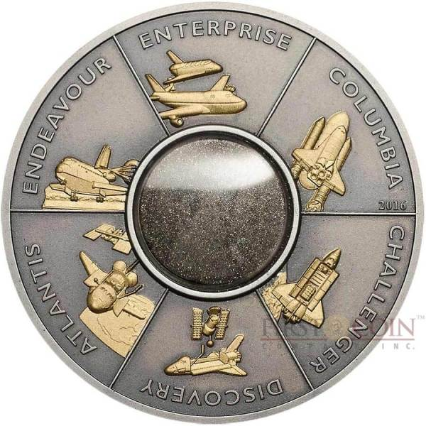 Space Shuttle coin launched