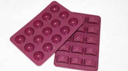 Bombom saudável de manteiga de coco e berries - Formas de silicone