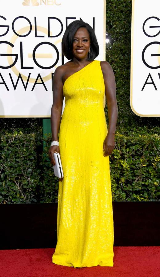 Viola Davis in Michael Kors at the 2017 Golden Globes