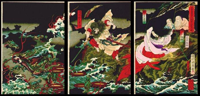 Susano'o Slaying the Yamata no Orichi - Toyohara Chicanobu