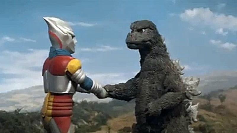Godzilla luta contra Ultramen