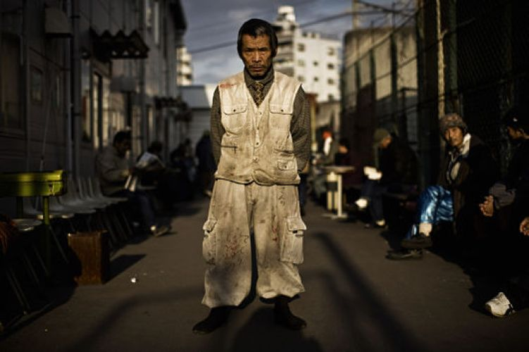Morador de rua do Japão