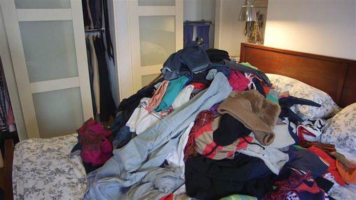 Pilha de roupas