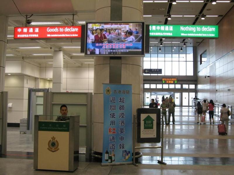 alfândega aeroporto viagem ao Japão
