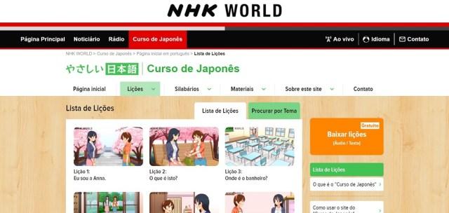 NHK curso japonês