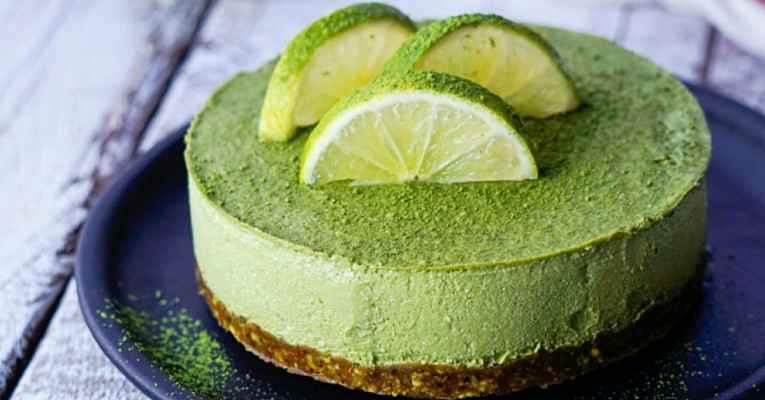 cheesecake vegano matcha