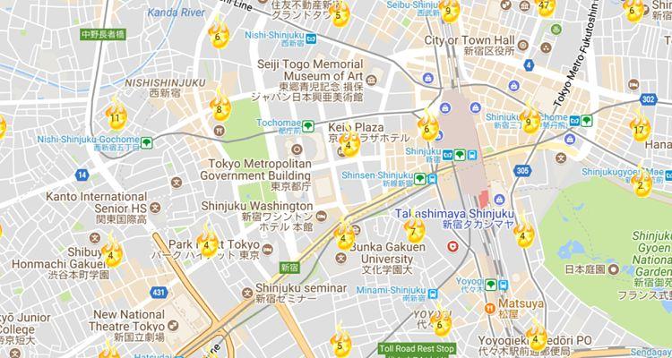 Mapa Oshima Teru
