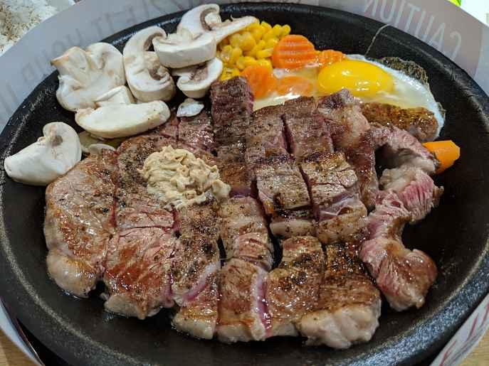 Bife pepper lunch Japão