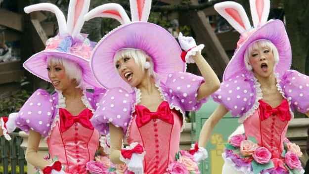 apresentação da Disneyland de Tokyo