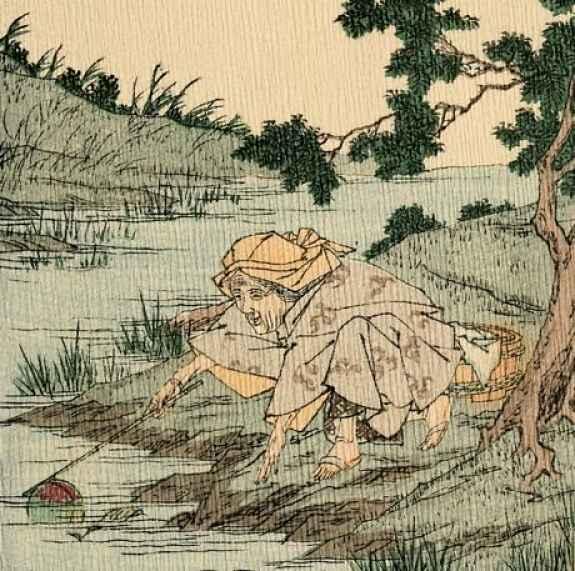 Encontrando o pêssego no rio