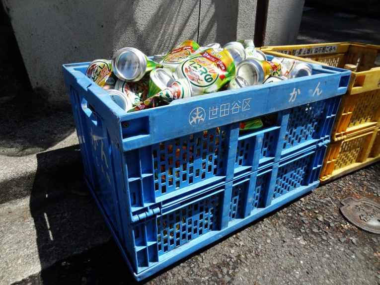Caixote de reciclagem de Tokyo