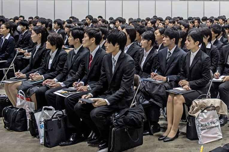 Recrutamento em massa no Japão
