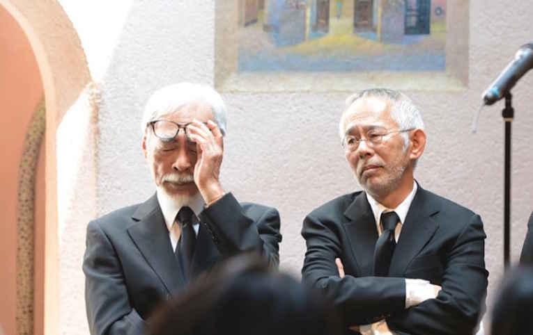 Hayao Miyazaki e Toshio Suzuki
