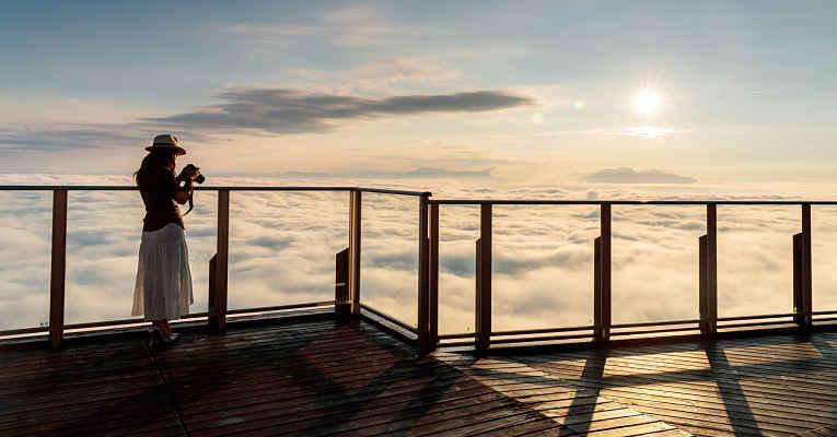 Fenômeno mar de nuvens em Nagano
