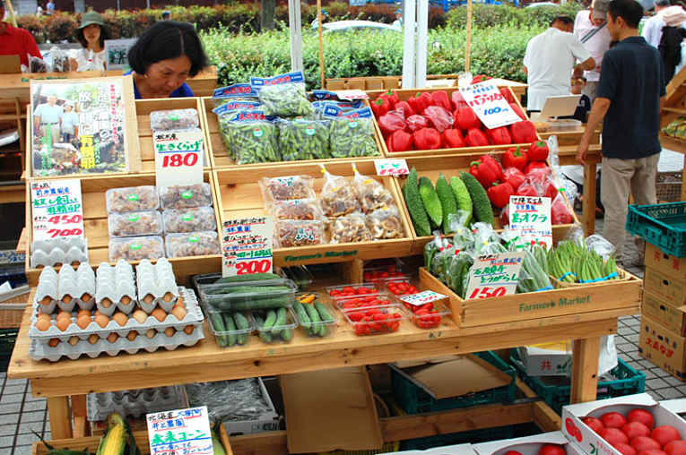 Feira de orgânicos no Japão