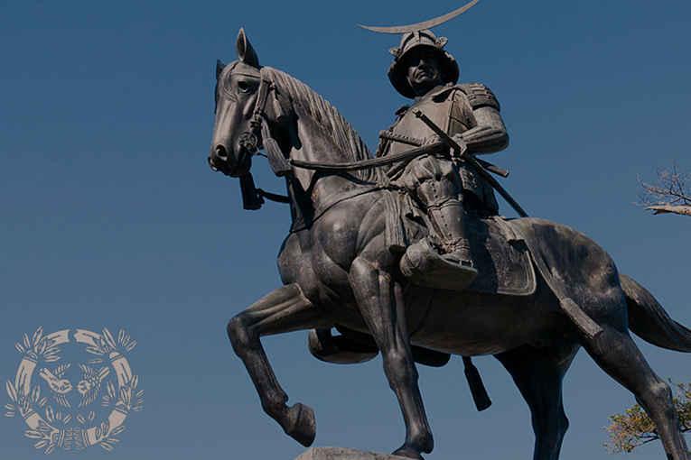 Estátua do samurai Date Masamune