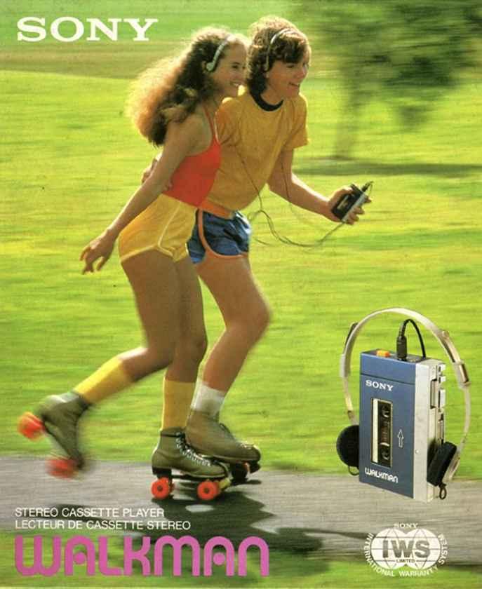 Anúncio dos anos 80 do Walkman da Sony