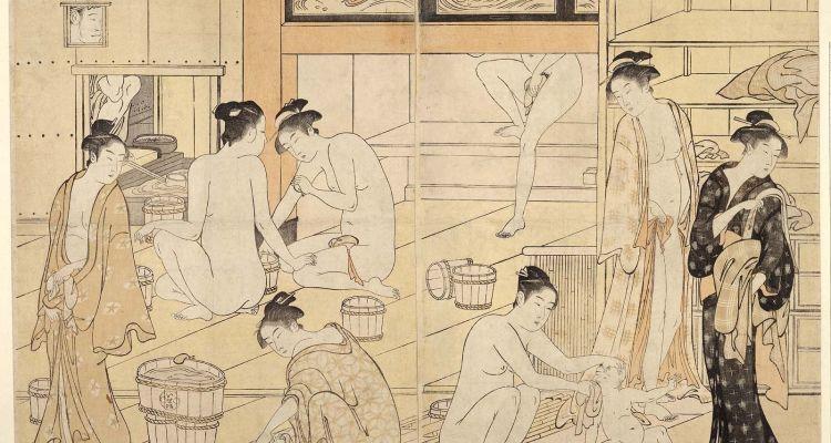 Ilustração do período Edo de sento