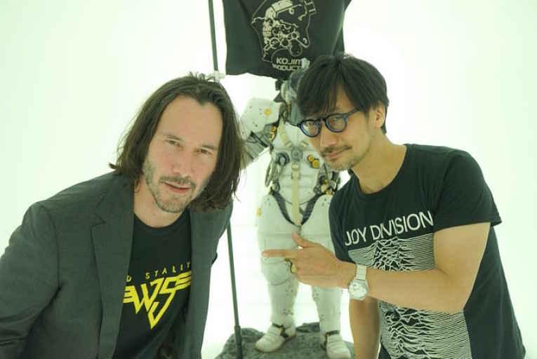 Keanu Reeves e Hideo Kojima