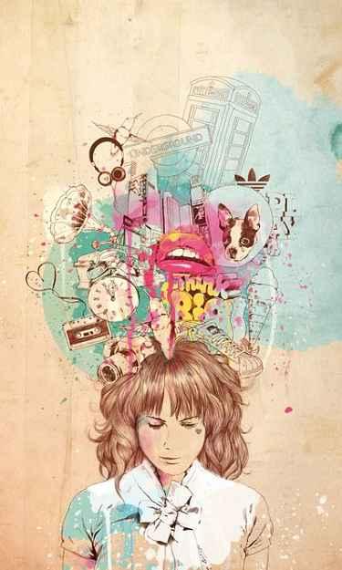 Pensamentos na cabeça