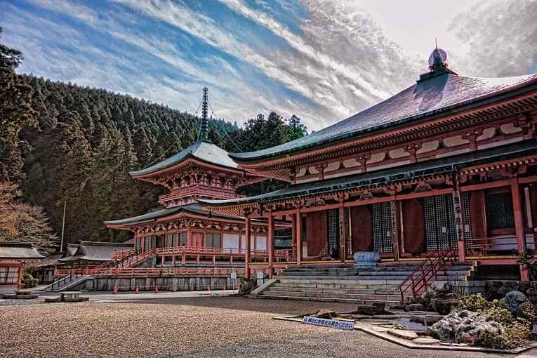 Visão do templo enryakuji