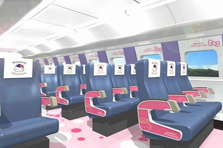 Interior shinkansen Hello Kitty