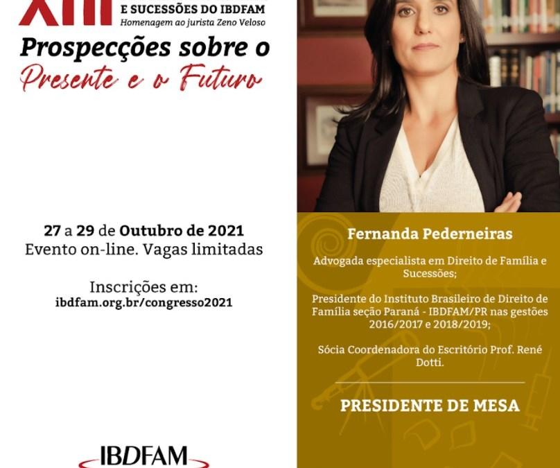 Fernanda Pederneiras participará do XIII Congresso Brasileiro do IBDFAM