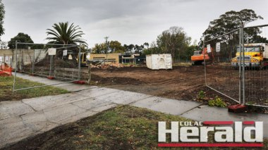 Workers on behalf of developer Lascorp have been clearing the site of Colac's new Coles supermarket complex.