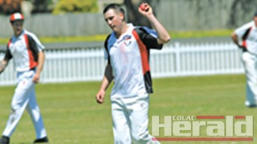 Colac district cricket's big improver Birregurra has climbed to the top of the Division One ladder following a thrilling win against Colac on Saturday. Star recruit Jack Parker, pictured, continued his red-hot form with the bat, blasting 56 runs.